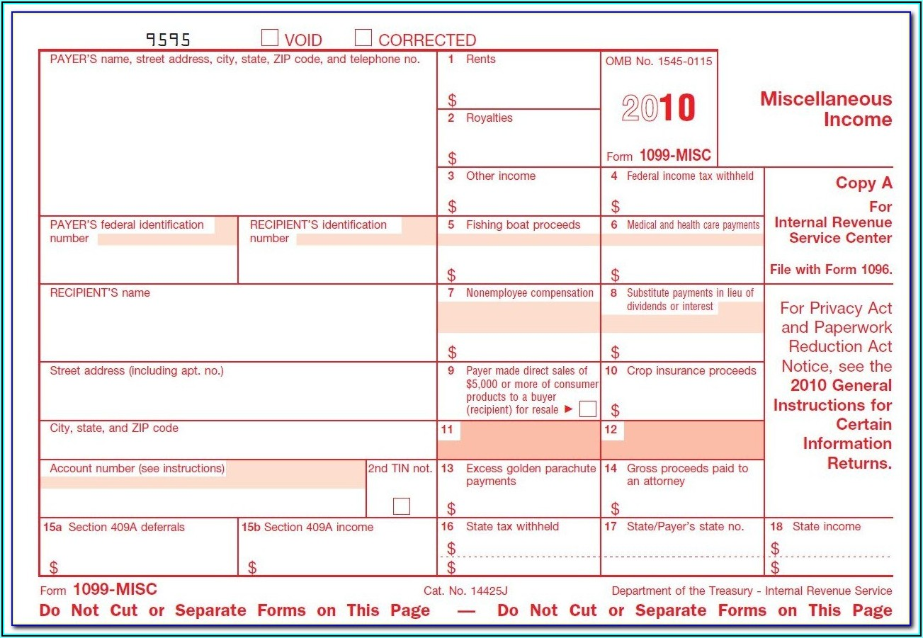 1099s Reporting Form