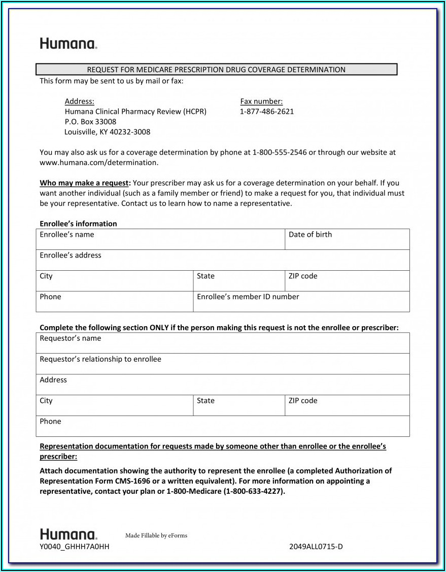 Aarp Medicare Advantage Prior Authorization Form