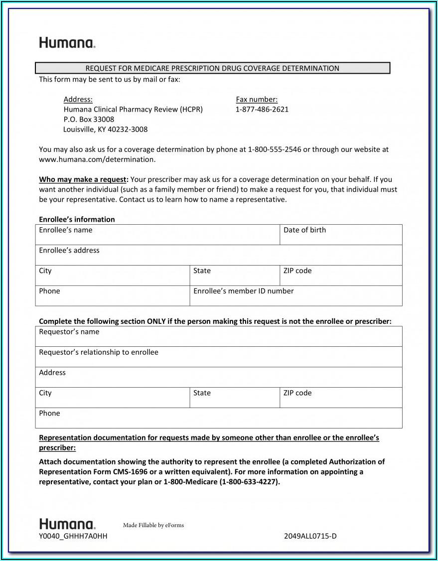 Aarp Medicare Advantage Prior Authorization Form