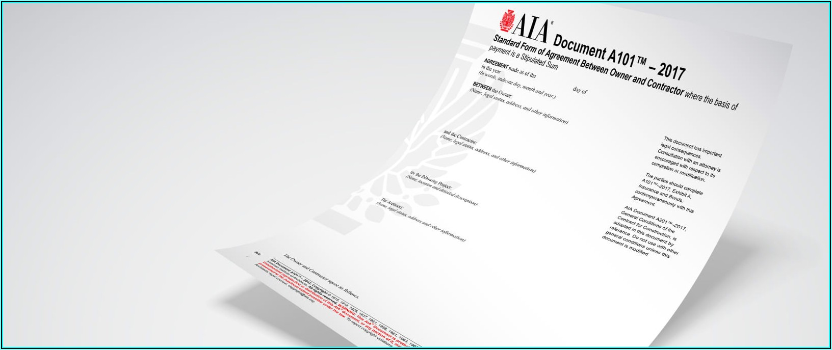 Aia Subcontractor Agreement Short Form