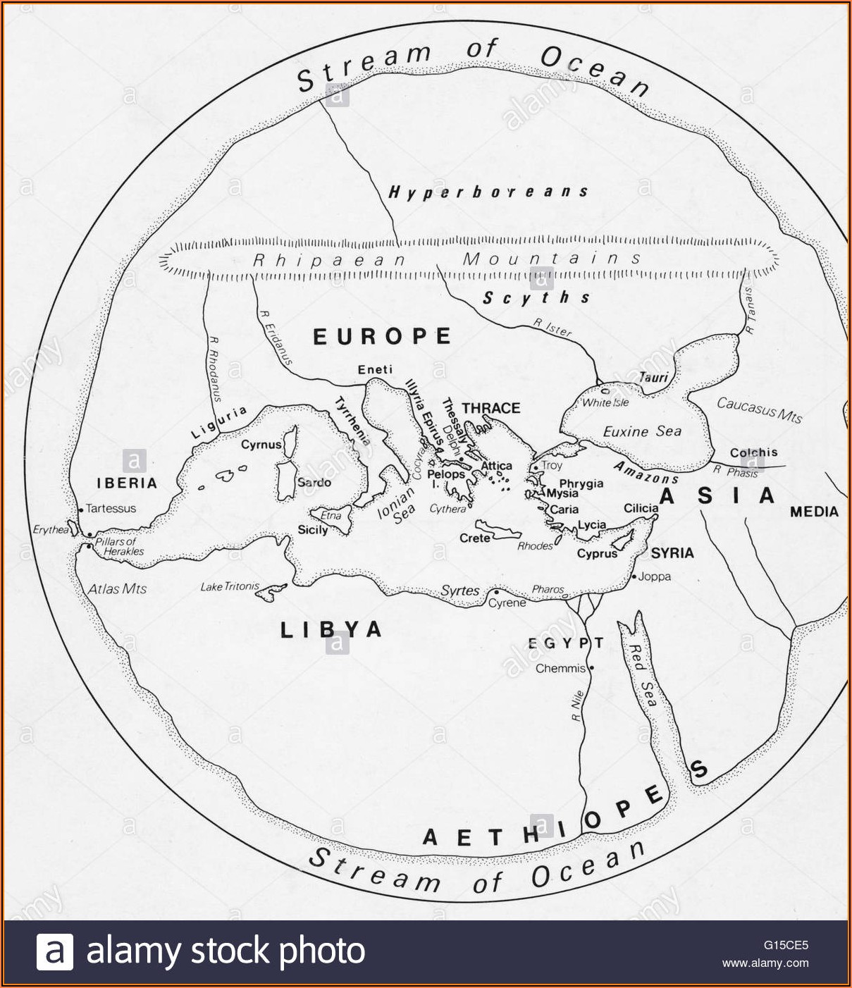 Ancient Map Of Middle East And Africa