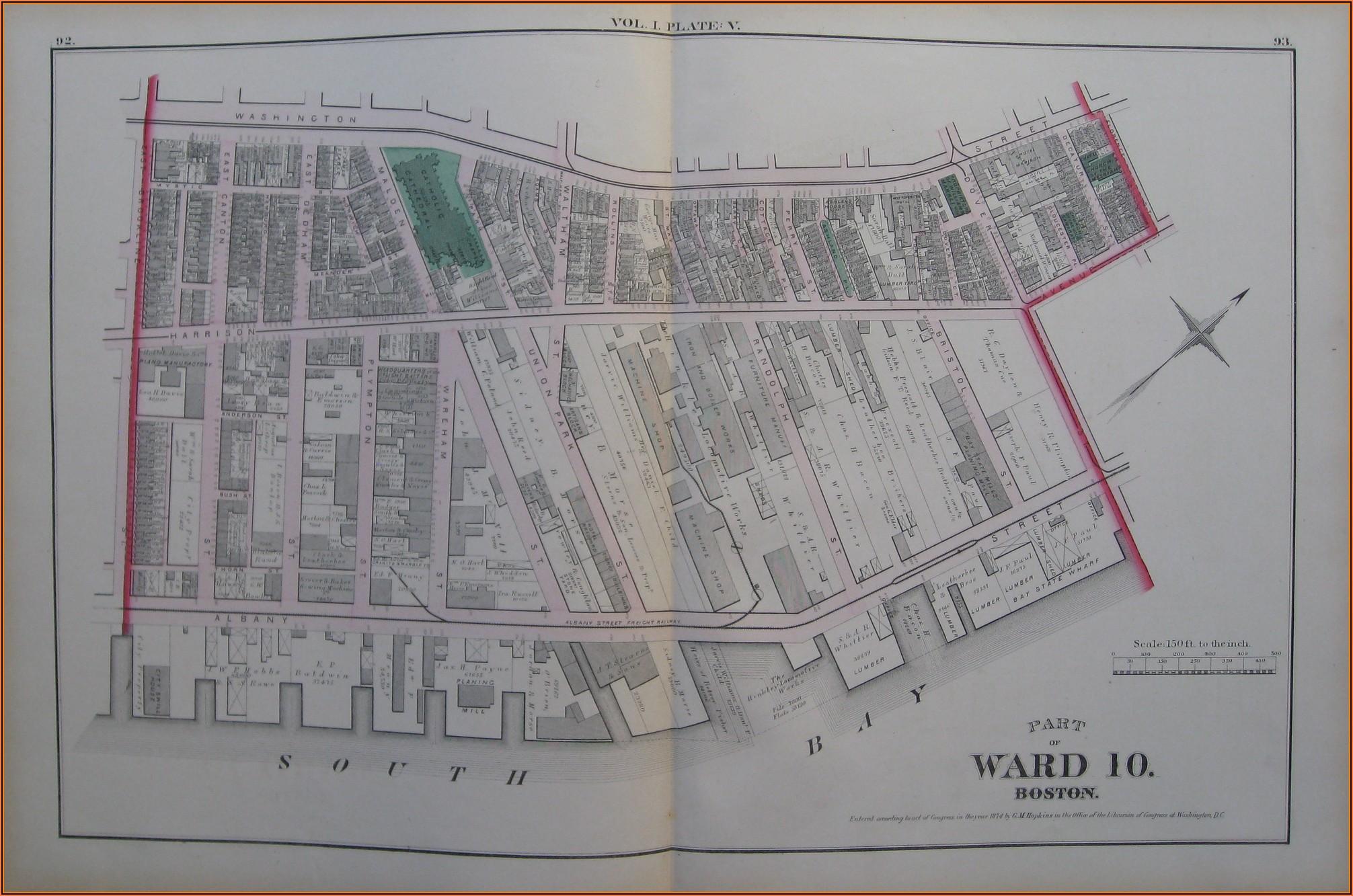 Antique Maps Boston