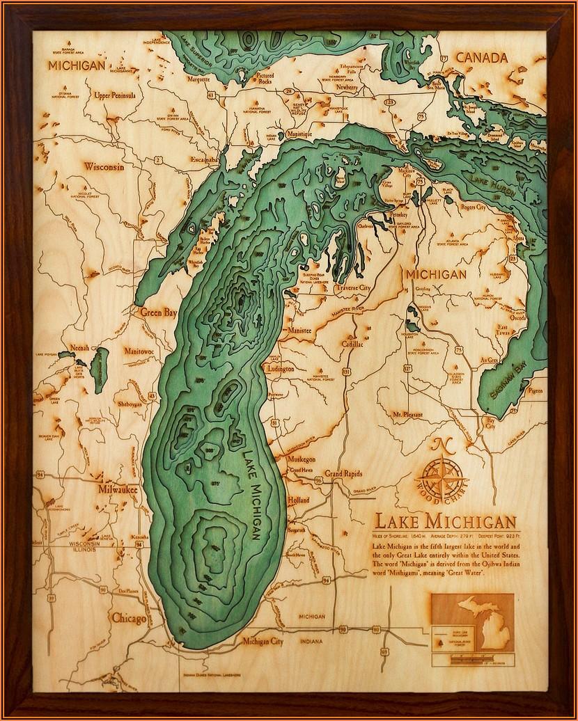 Bathymetric Maps For Sale