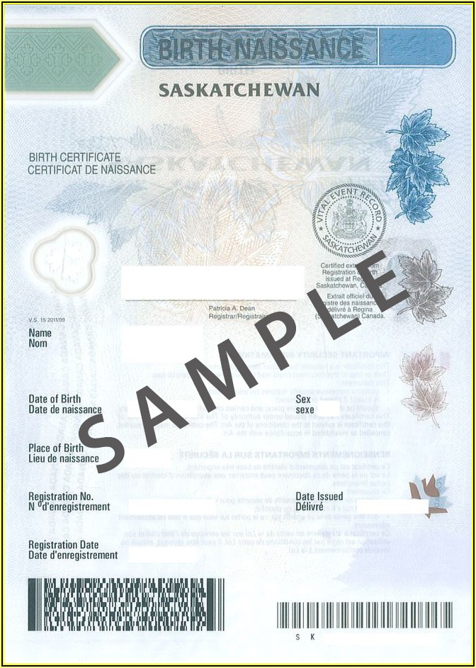 Birth Certificate Replacement Form Ontario