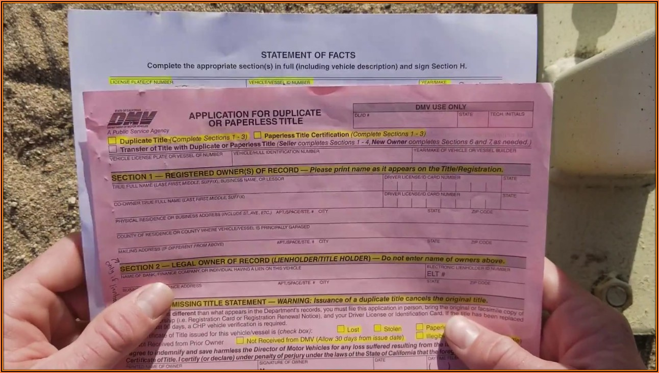 California Dmv Registration Form 227