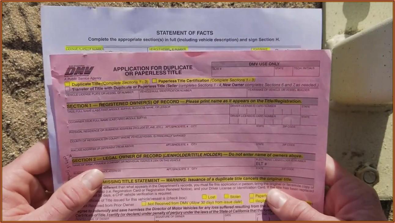 California Dmv Registration Form 227