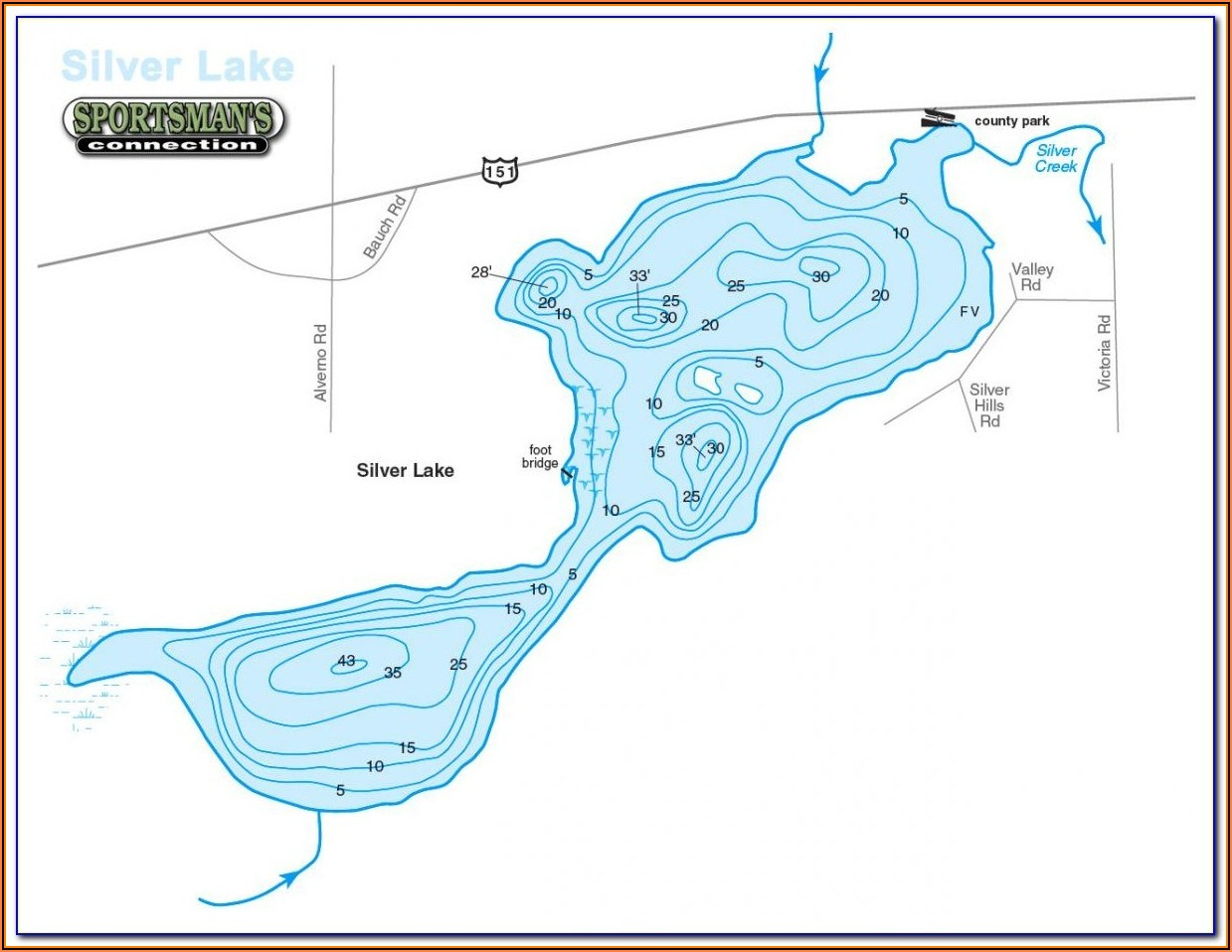 Candlewood Lake Contour Map