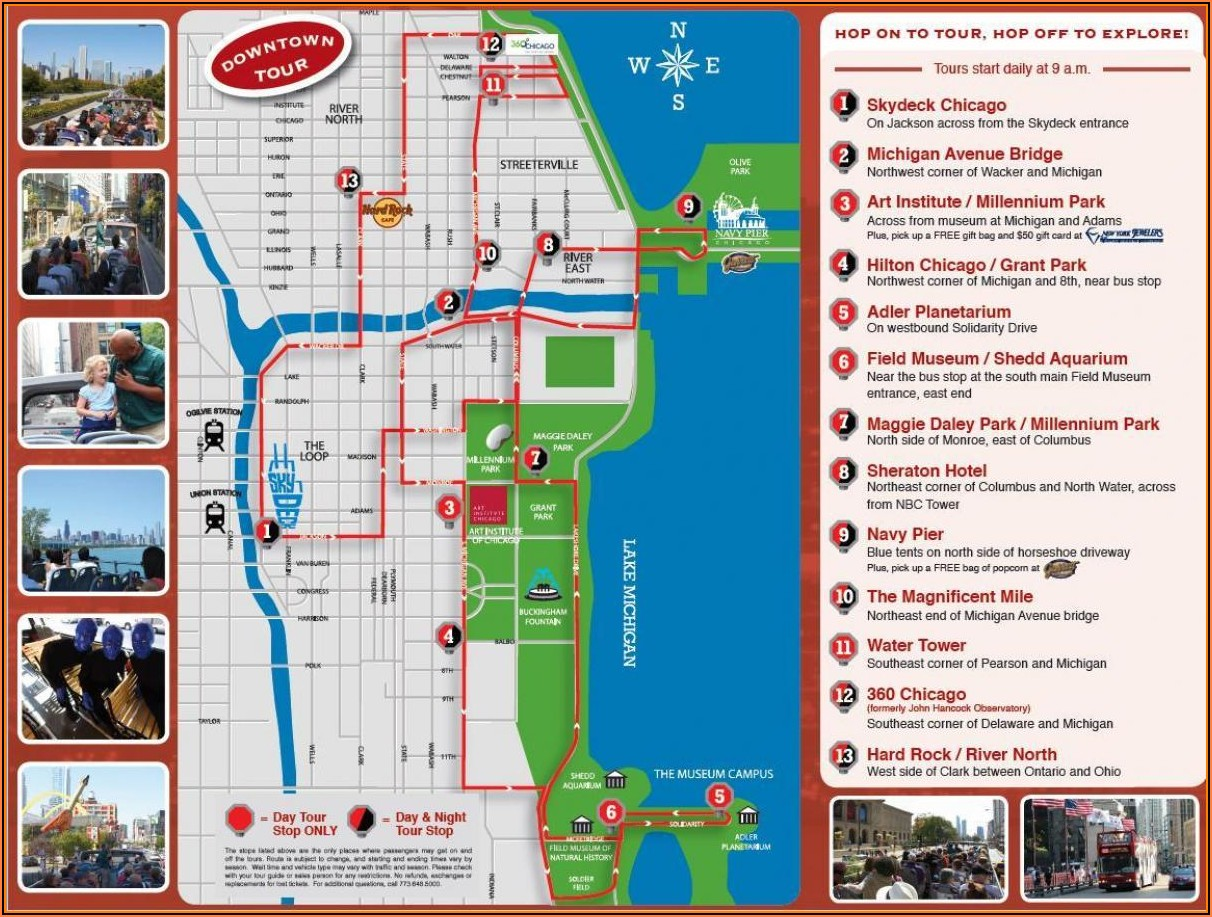 Chicago Hop On Hop Off Tour Map