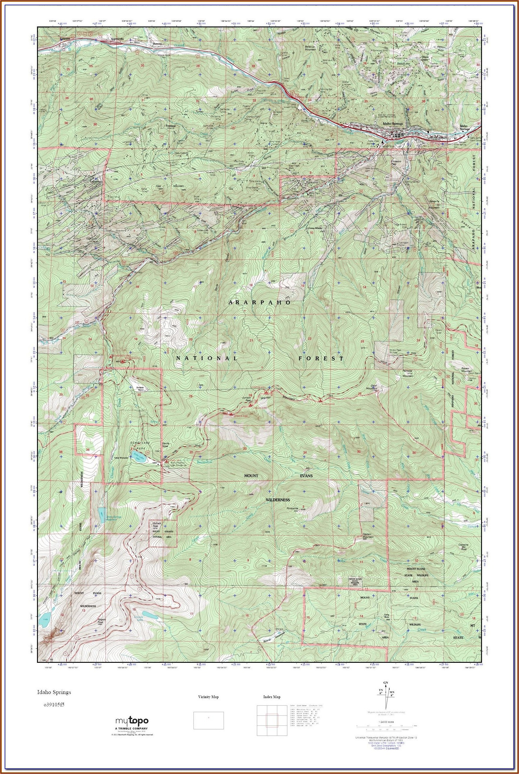 Colorado Hunting Topo Maps