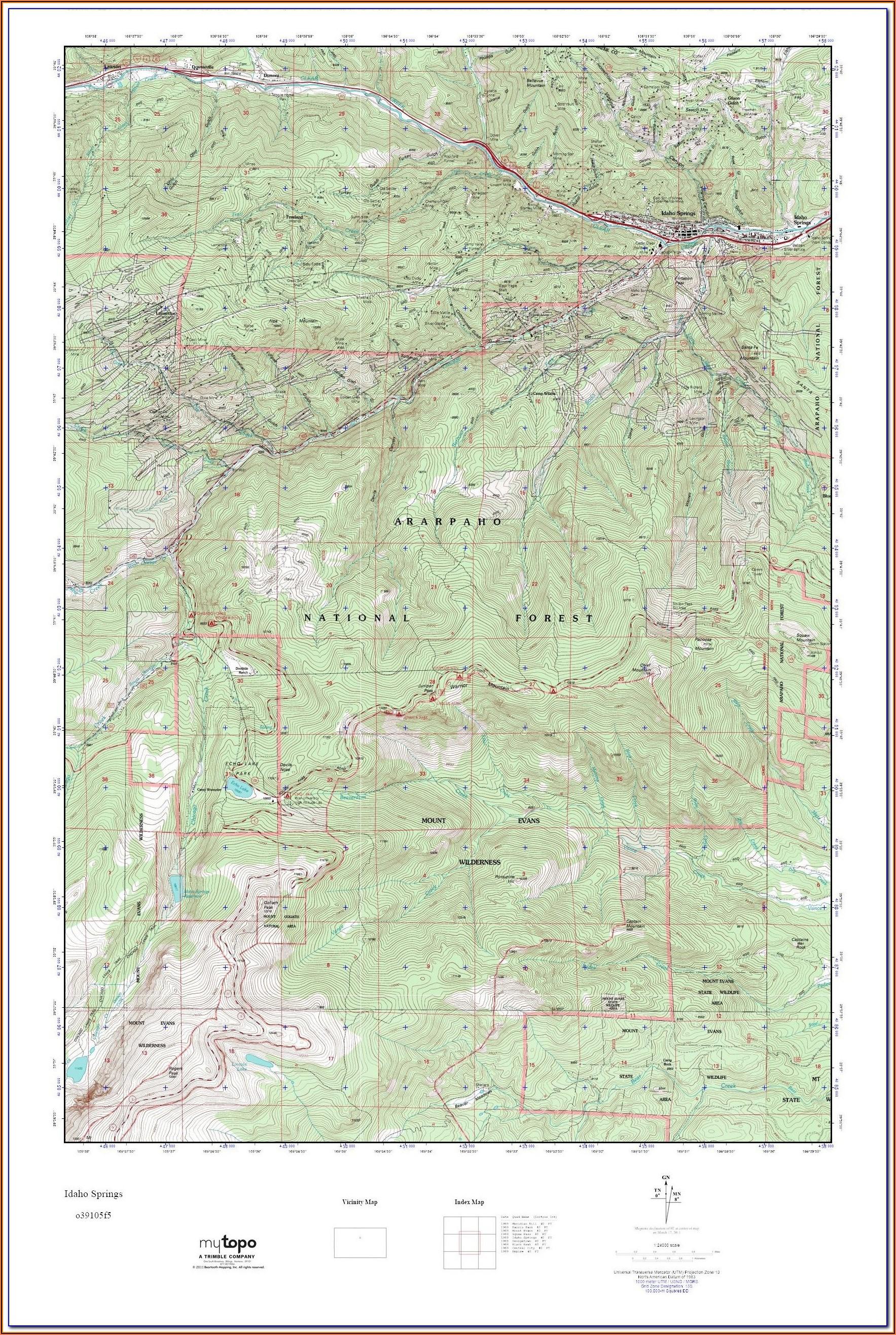 Colorado Hunting Topo Maps
