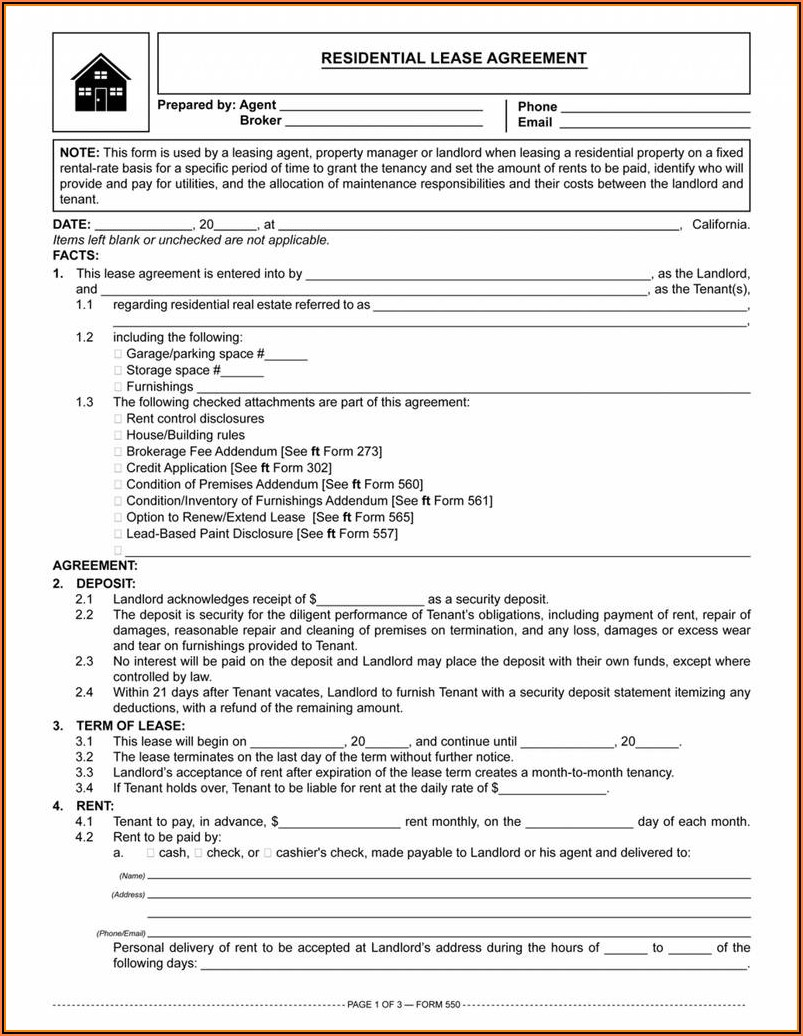 Colorado Residential Lease Agreement Form