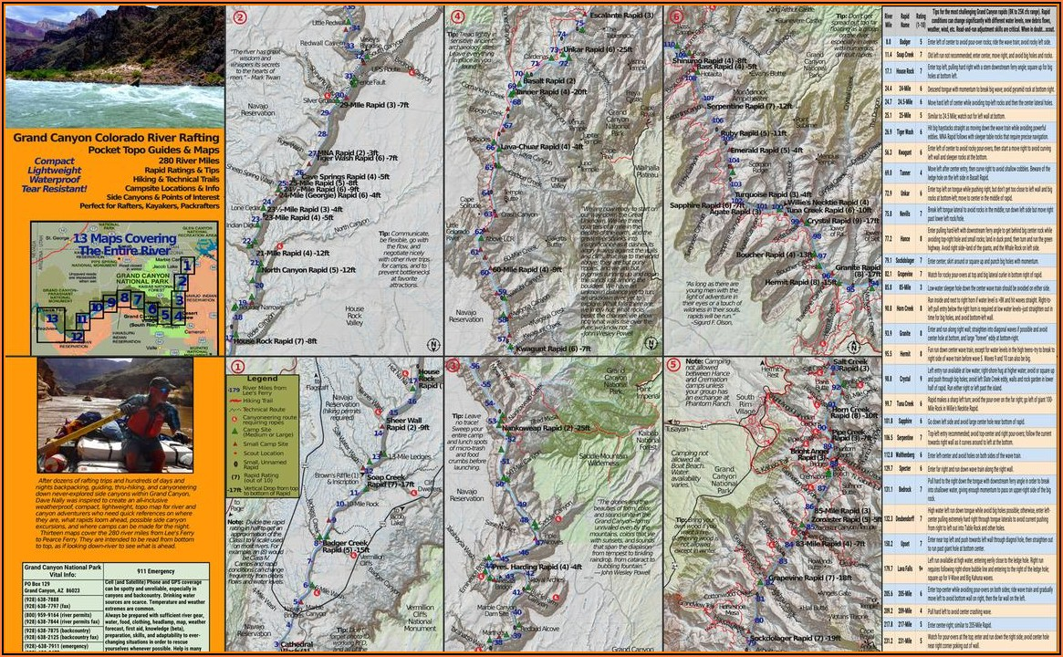 Colorado River Grand Canyon Rafting Map