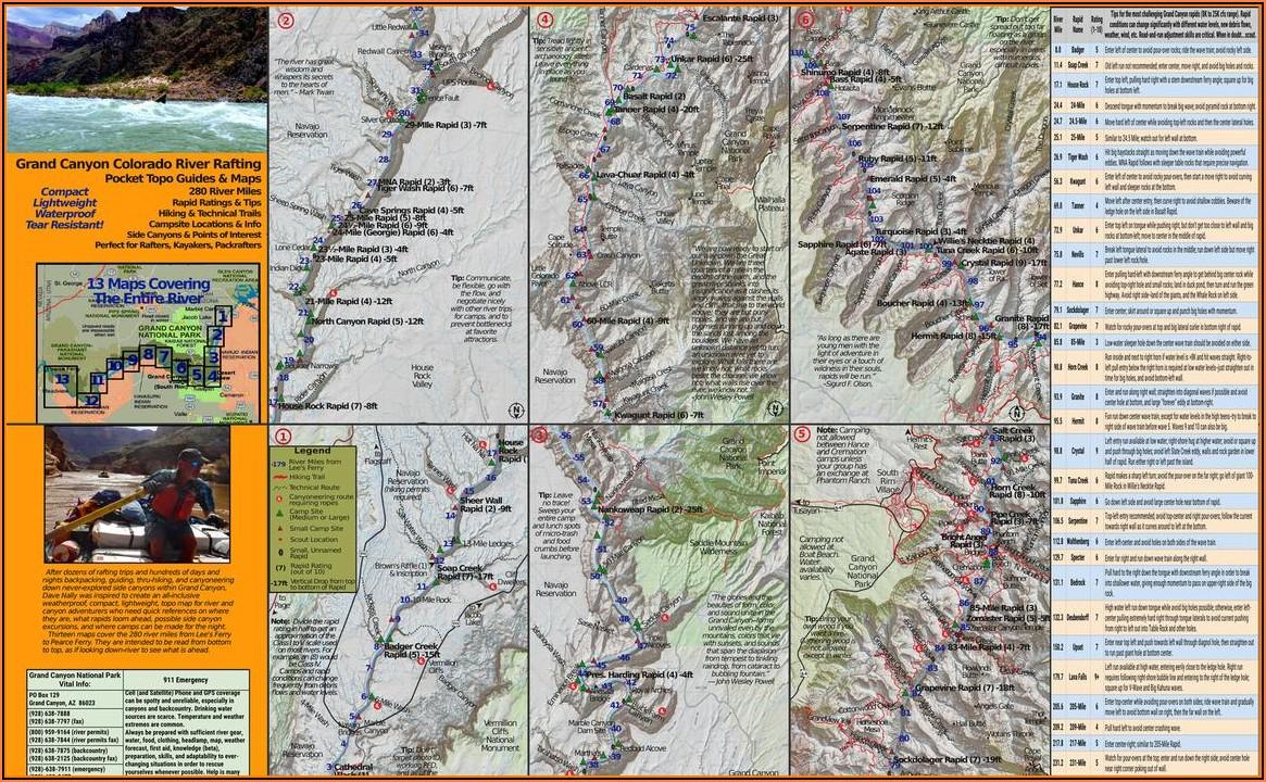 Colorado River Grand Canyon Rafting Map