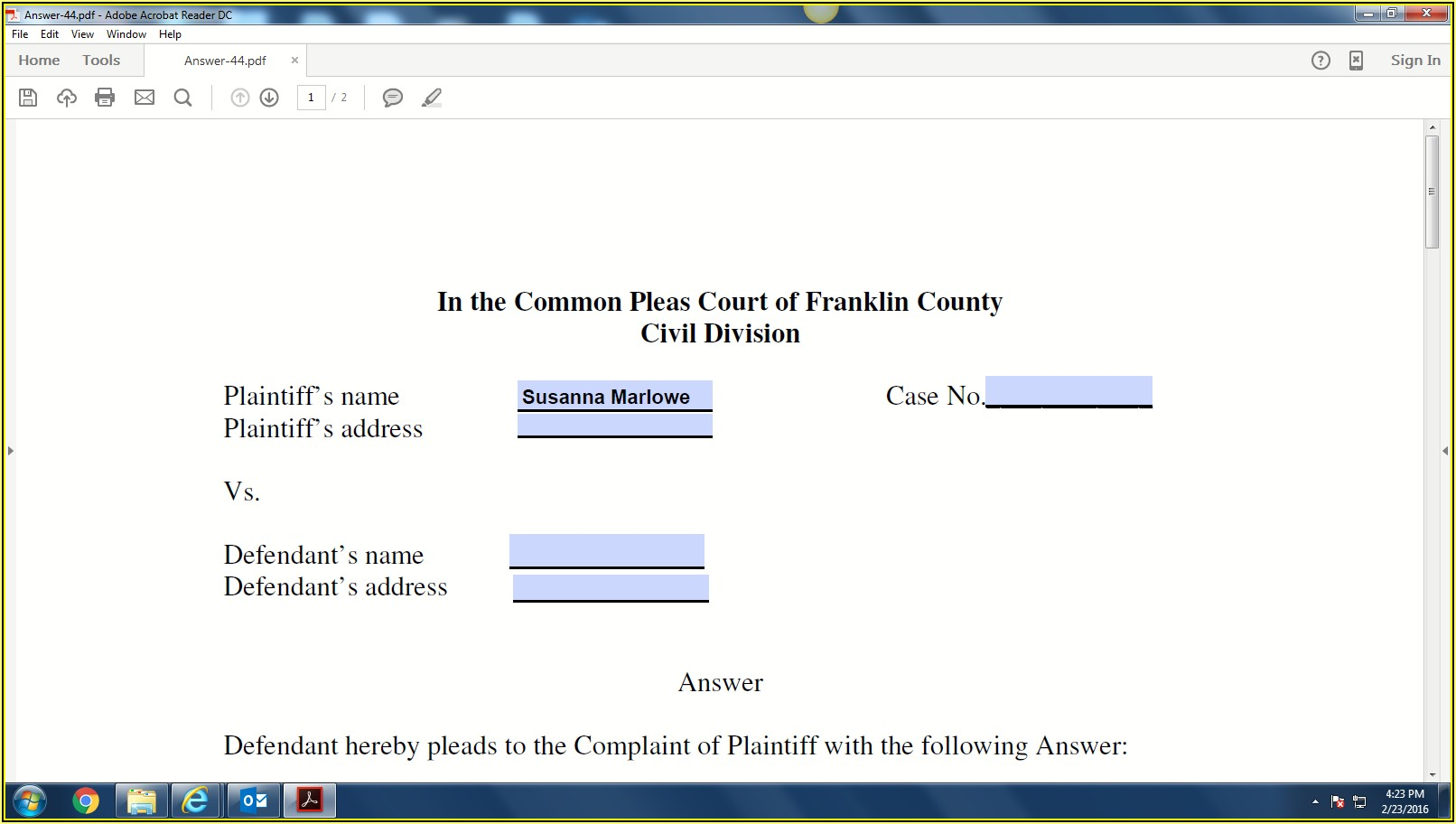 Creating Pdf Fillable Forms
