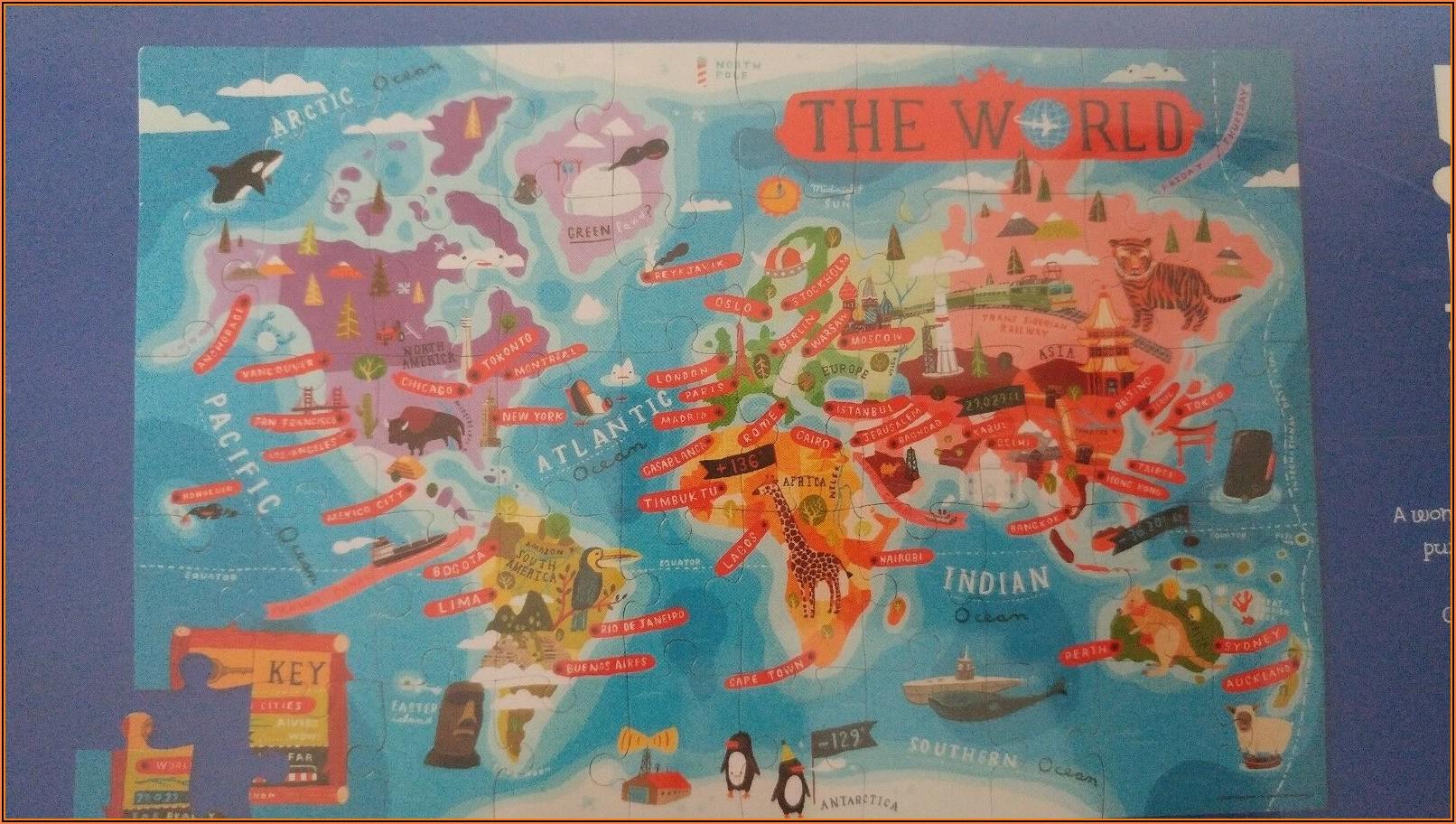 Crocodile Creek World Map Floor Puzzle
