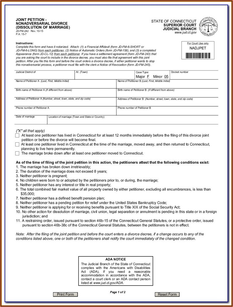 Divorce Filing Mn