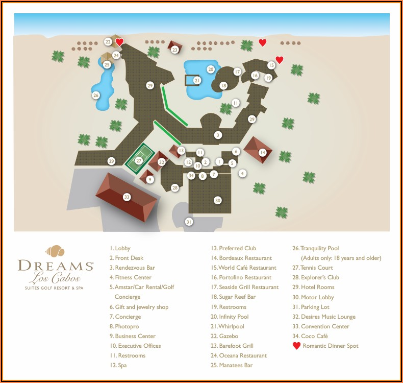 Dreams Los Cabos Hotel Map