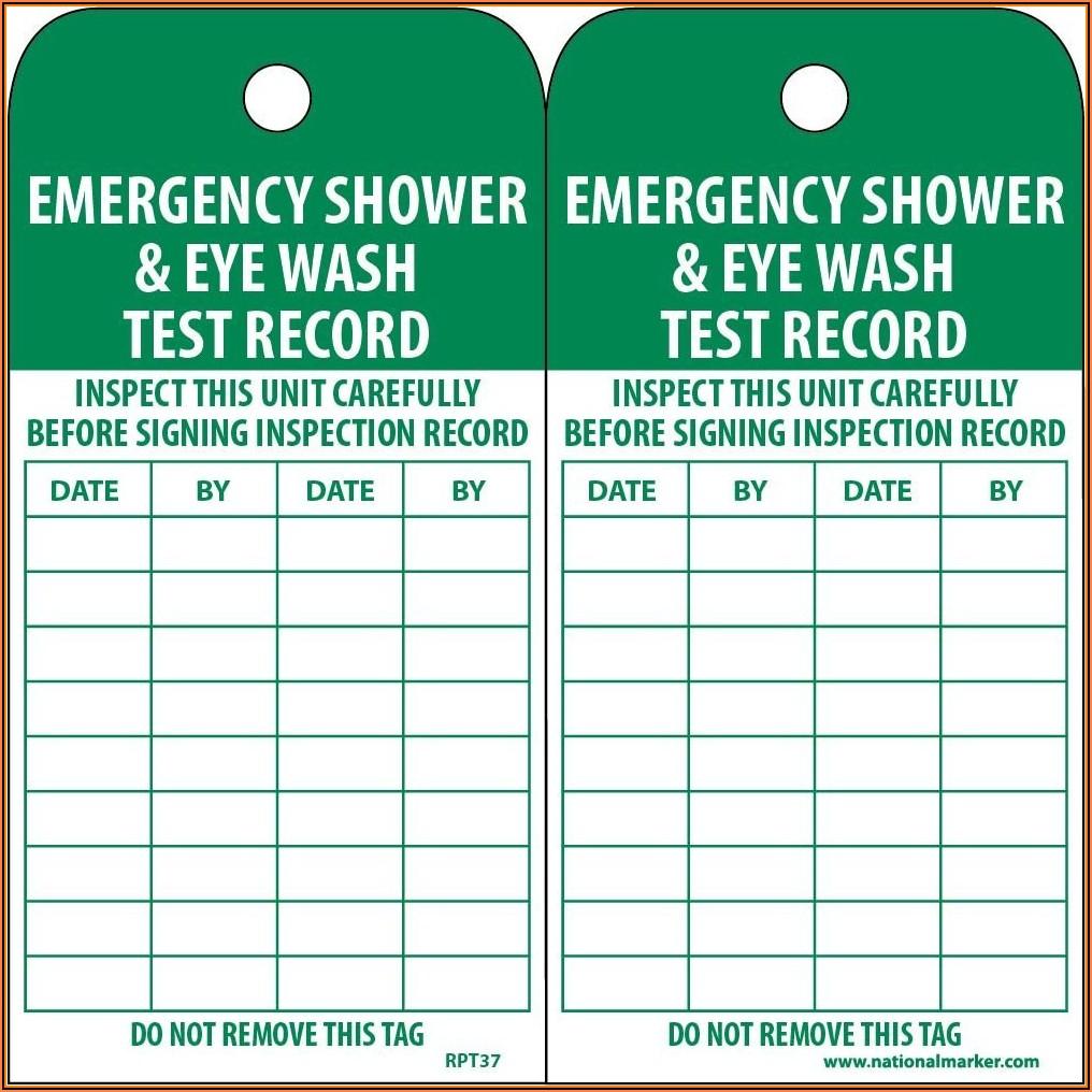 Emergency Eyewash Inspection Form