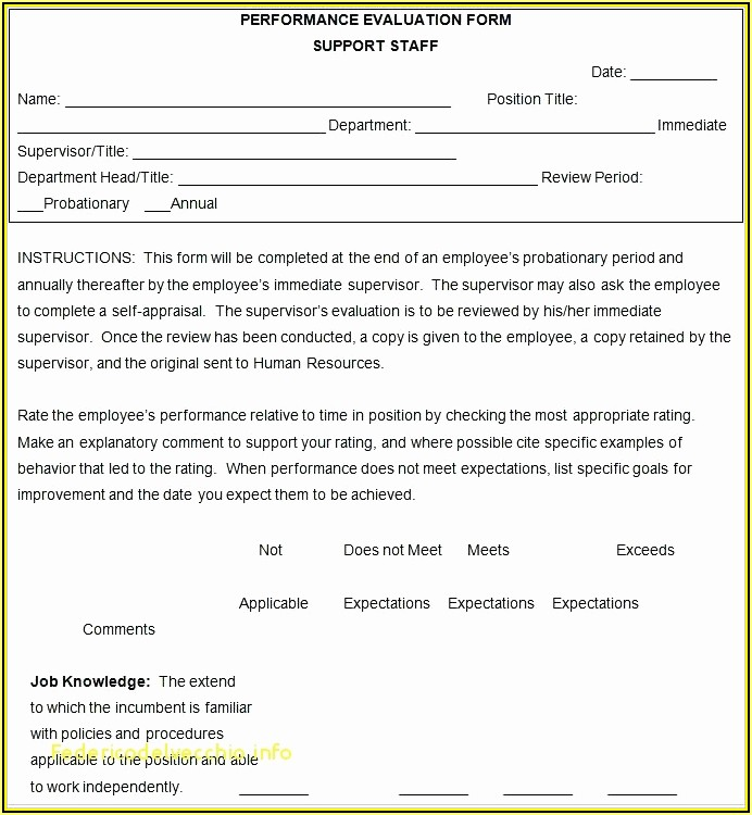 Employee Performance Appraisal Form Template Uk