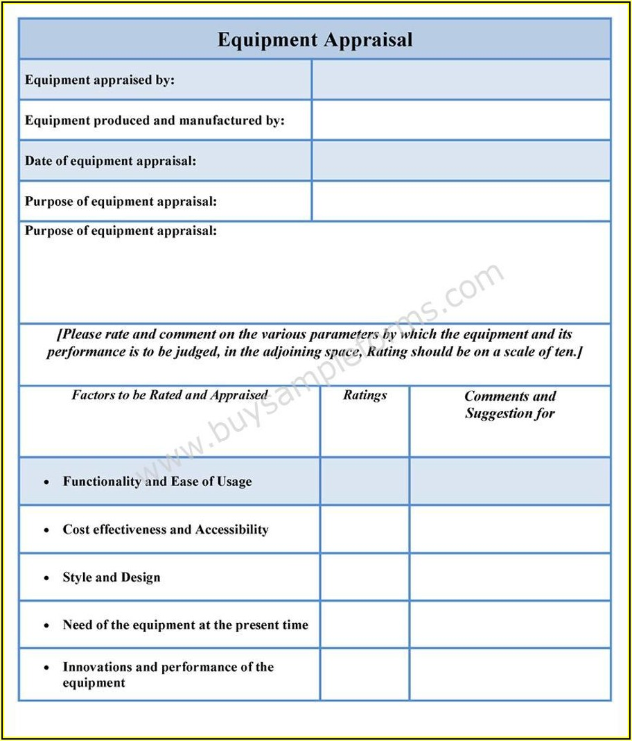 Employee Performance Appraisal Forms Templates
