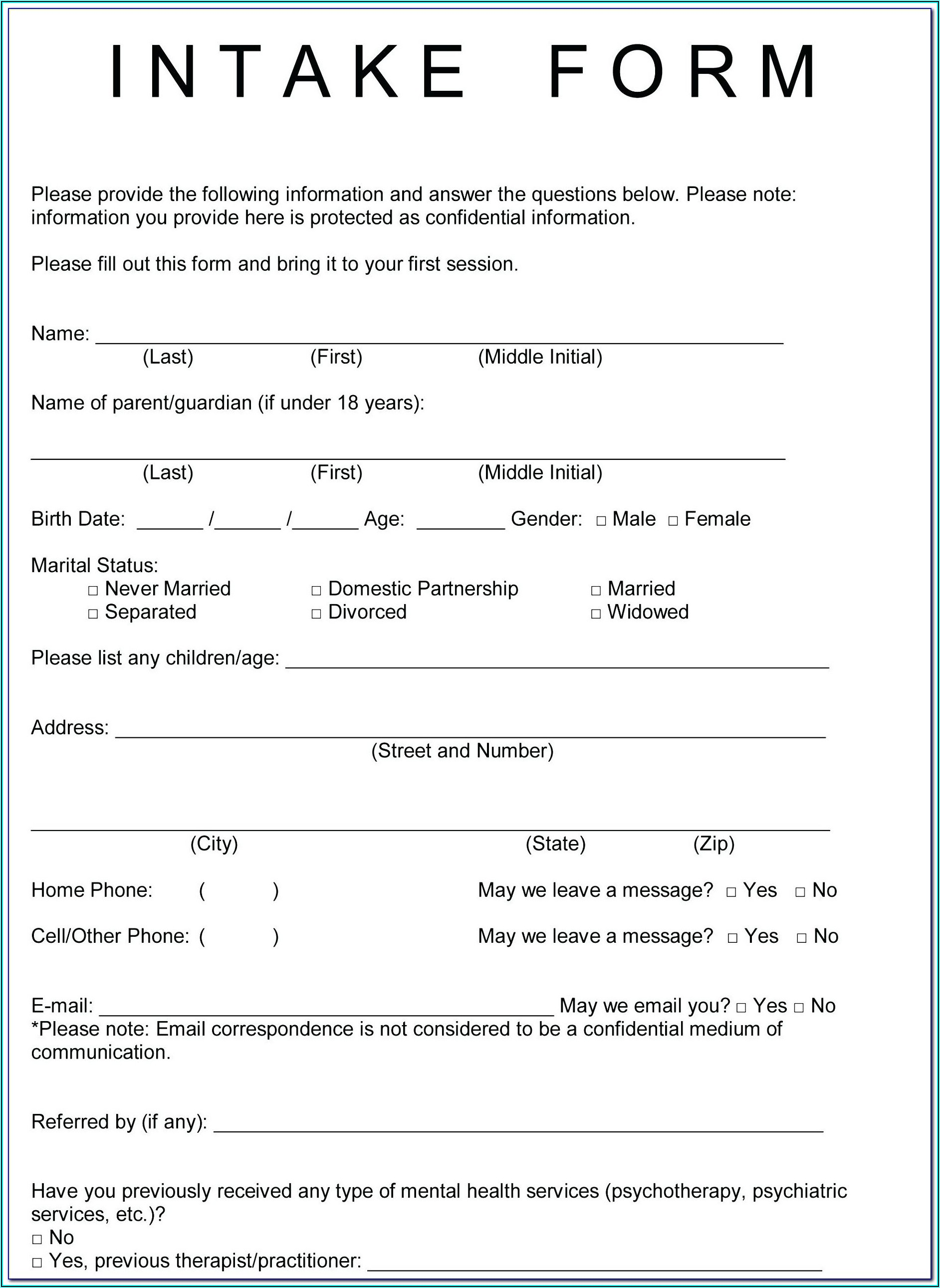 Esthetician Waiver Forms