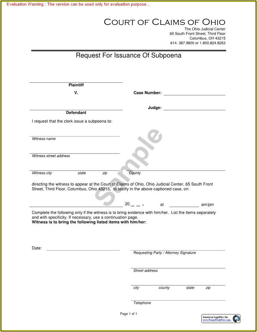 Expungement Forms Ohio