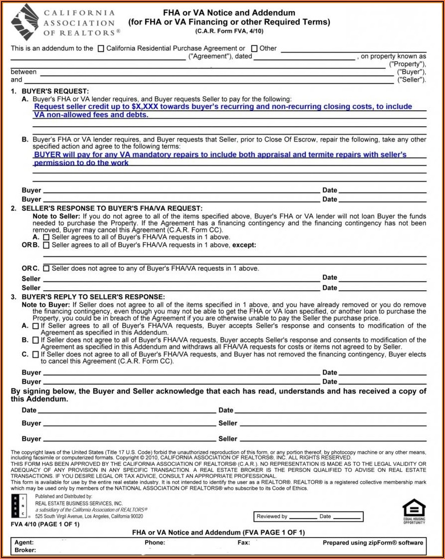 Fha Termite Inspection Waiver Form