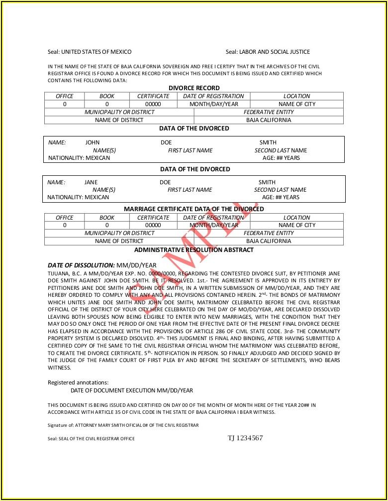 Final Divorce Decree Form California