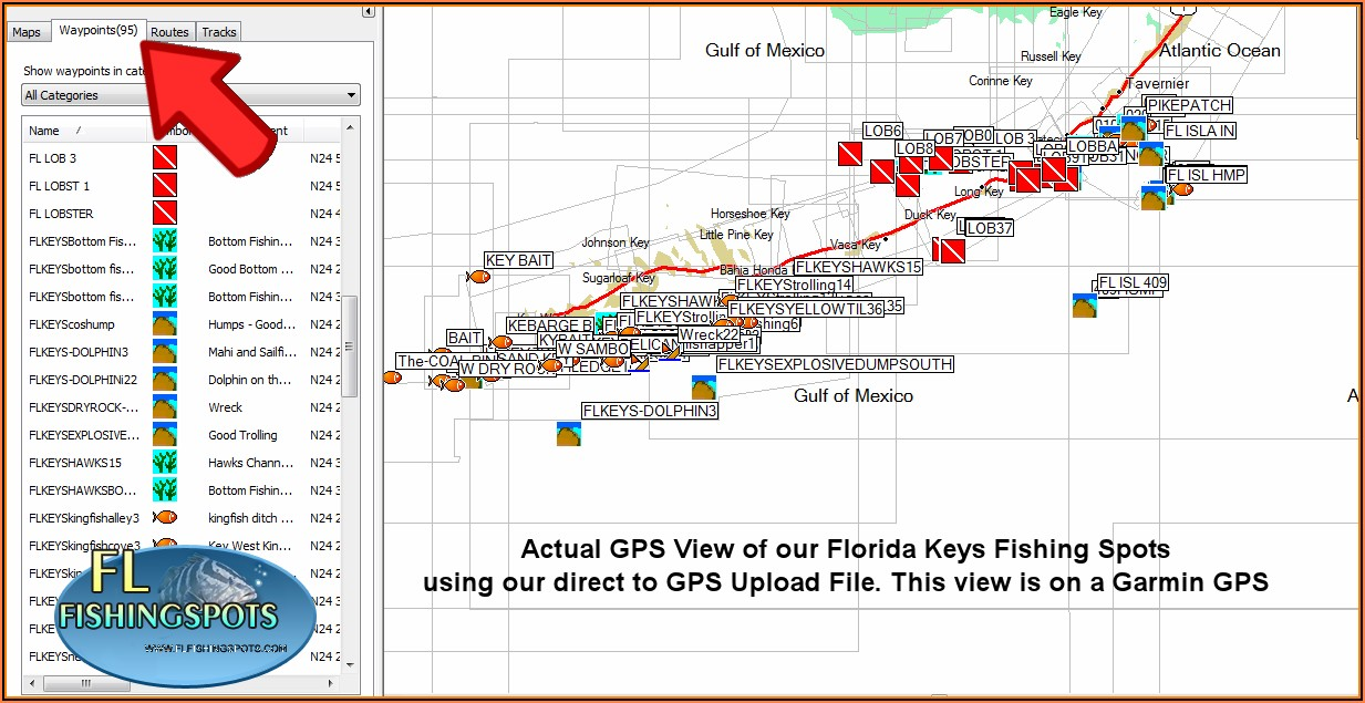 Florida Keys Fishing Maps