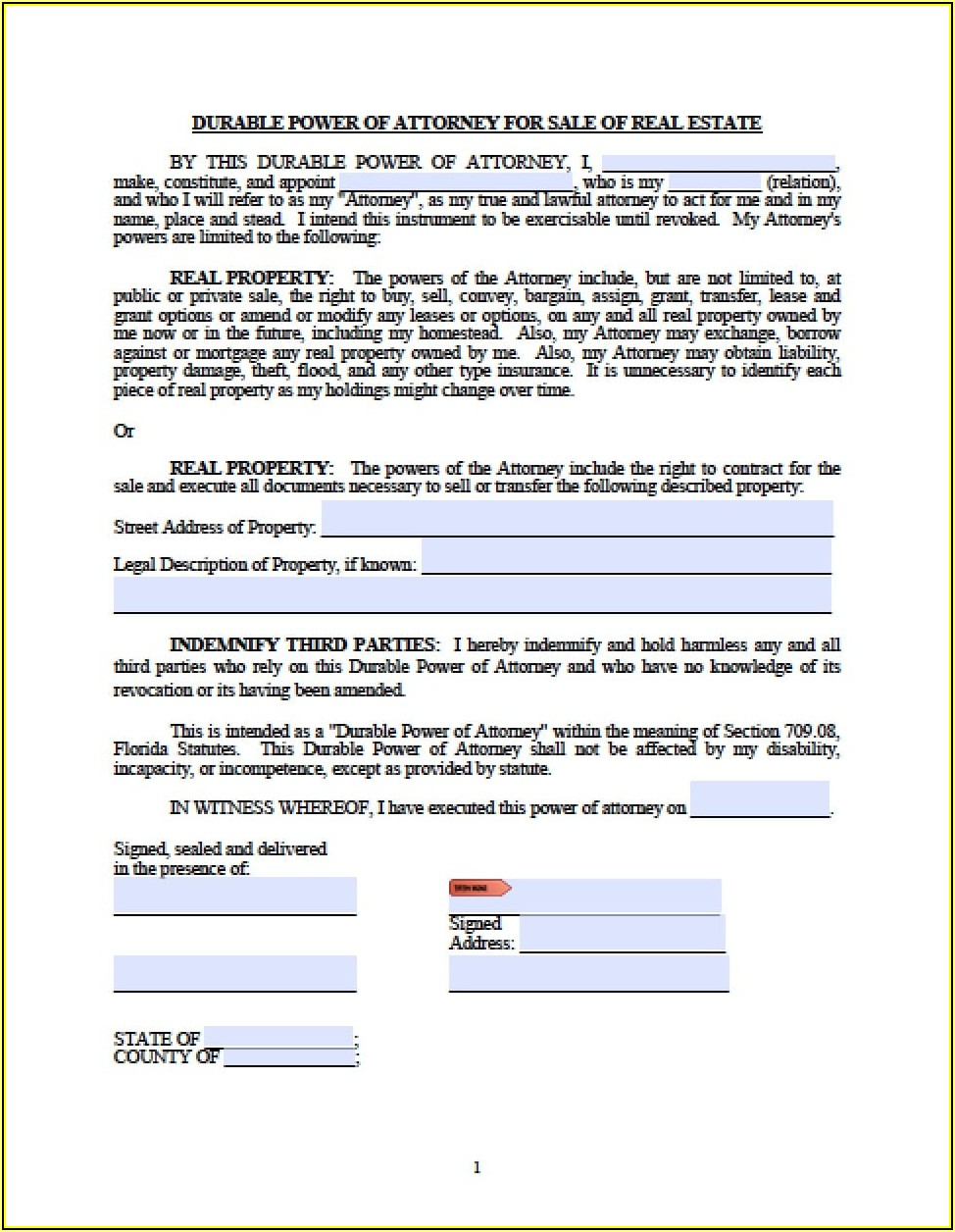 Florida Real Estate Transfer Tax Forms