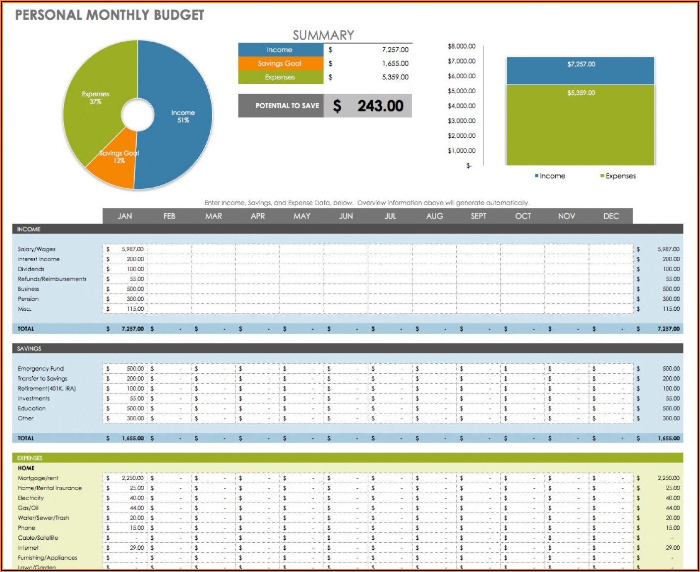 Free Excel Budget Template Download