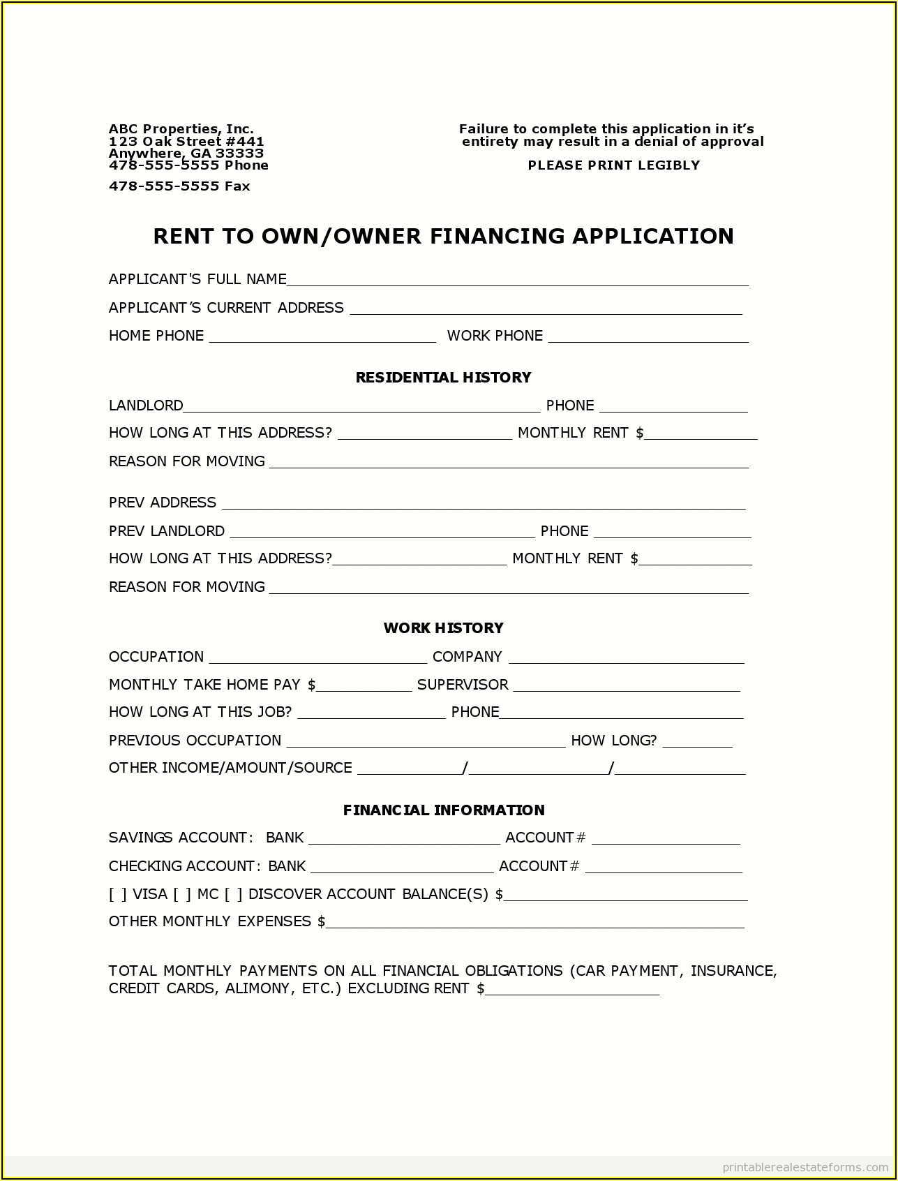 Free Fsbo Contract Forms