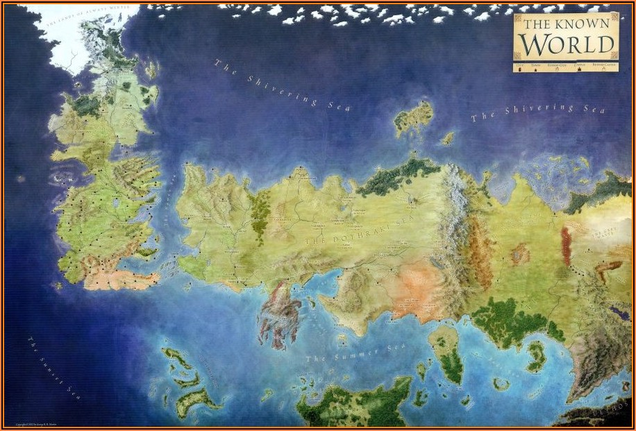 Game Of Thrones Lands Map