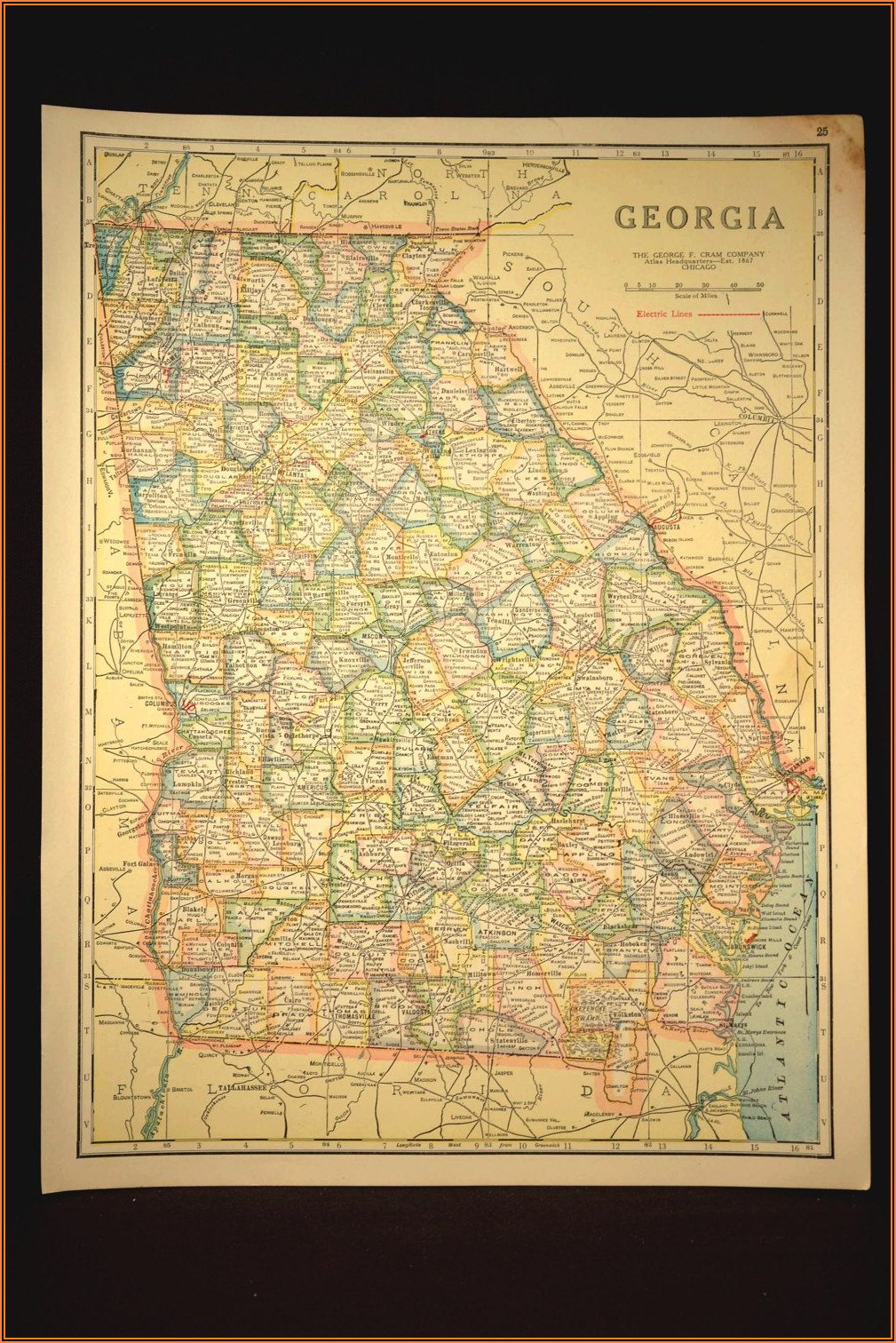 Georgia Map Wall Art