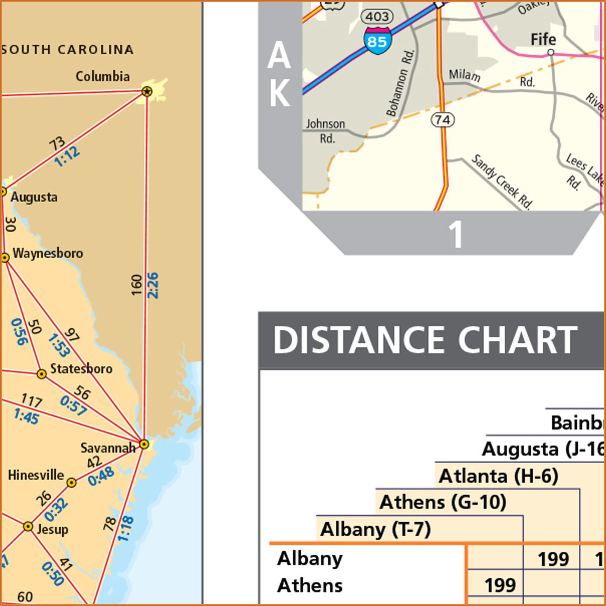 Georgia State Wall Map