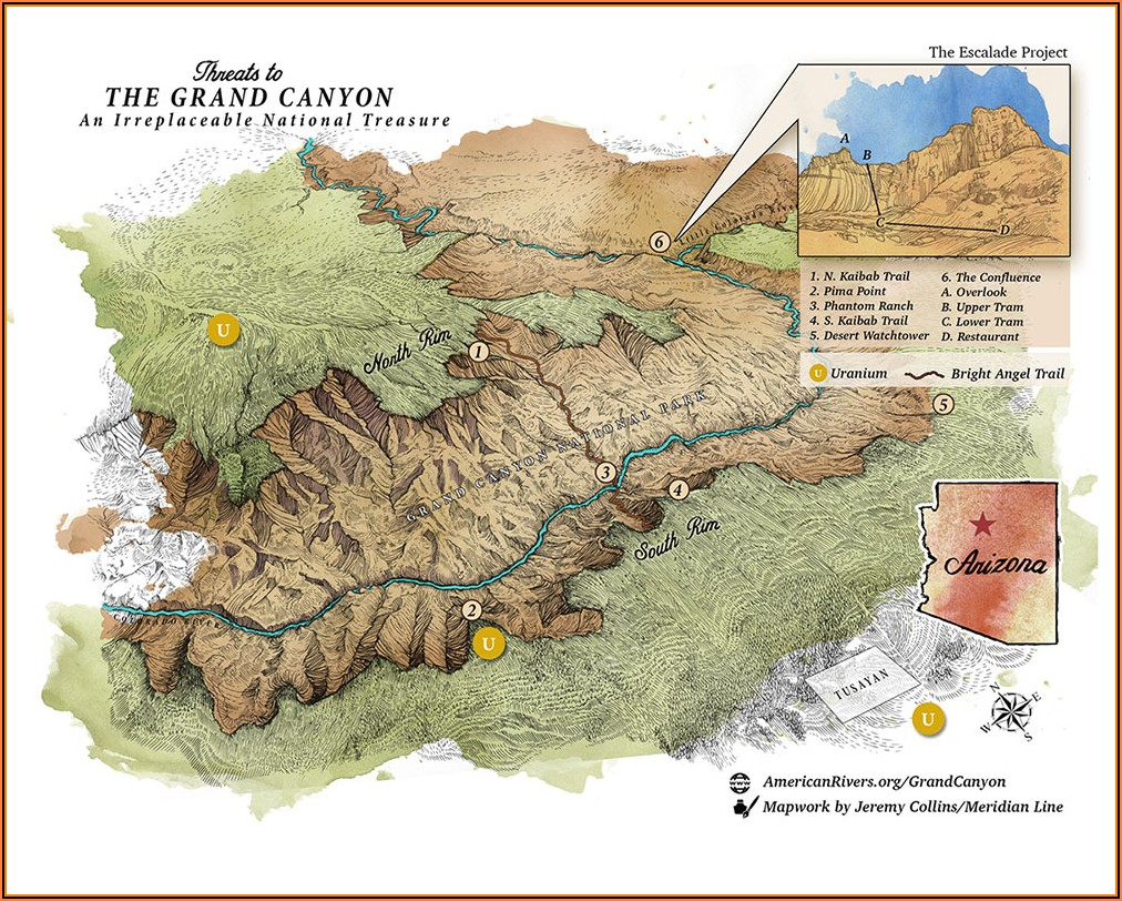 Grand Canyon Colorado River Mile Map