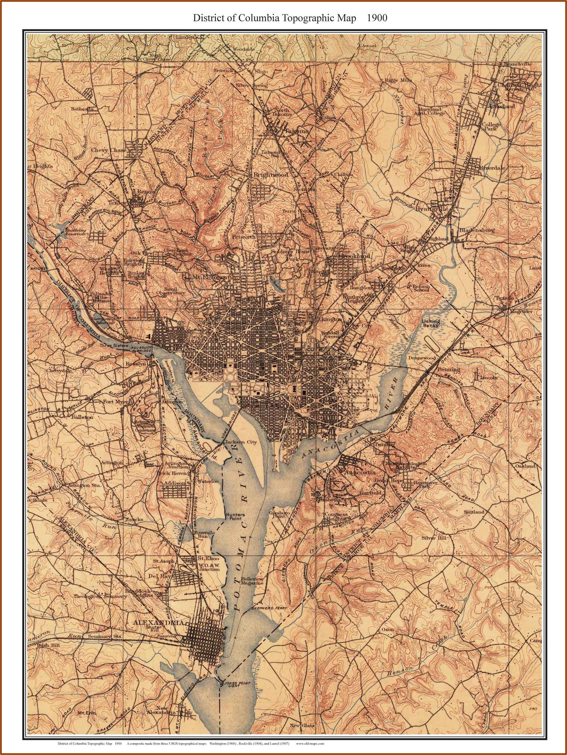 Historic Maps Of Washington Dc