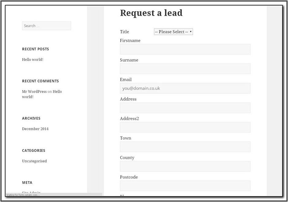 Hubspot Lead Capture Forms