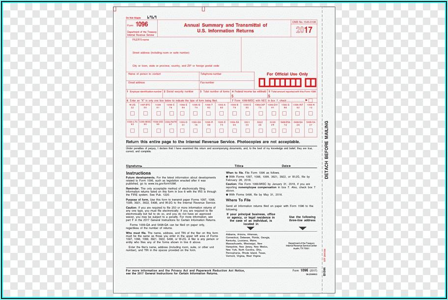 Internal Revenue Service 1099 Forms Order