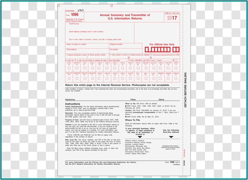 Internal Revenue Service Form 1099