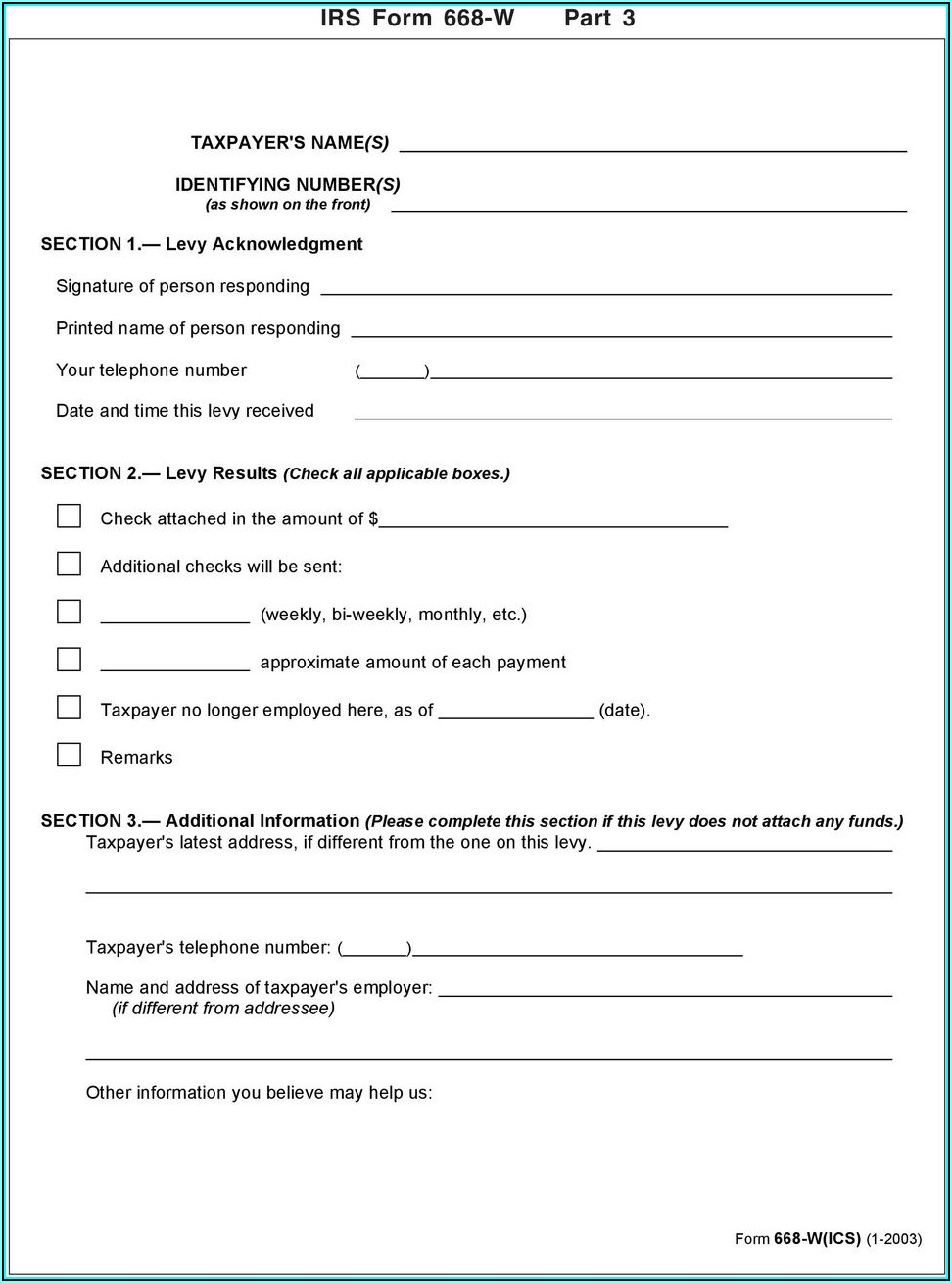 Irs Form 668 W Part 5