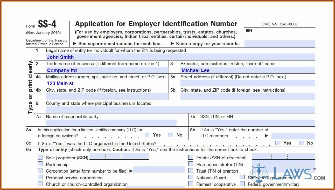 Irs Form Ss 4 2019