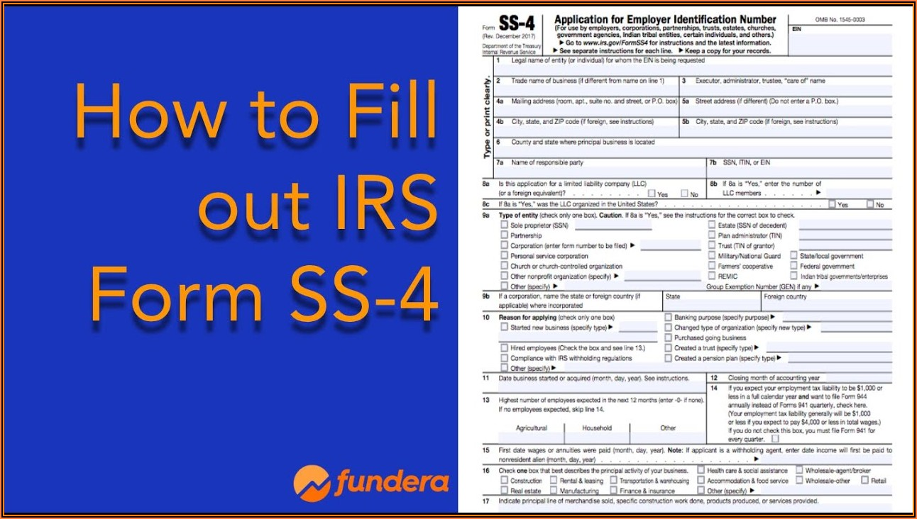Irs Form Ss 4 Fax Number