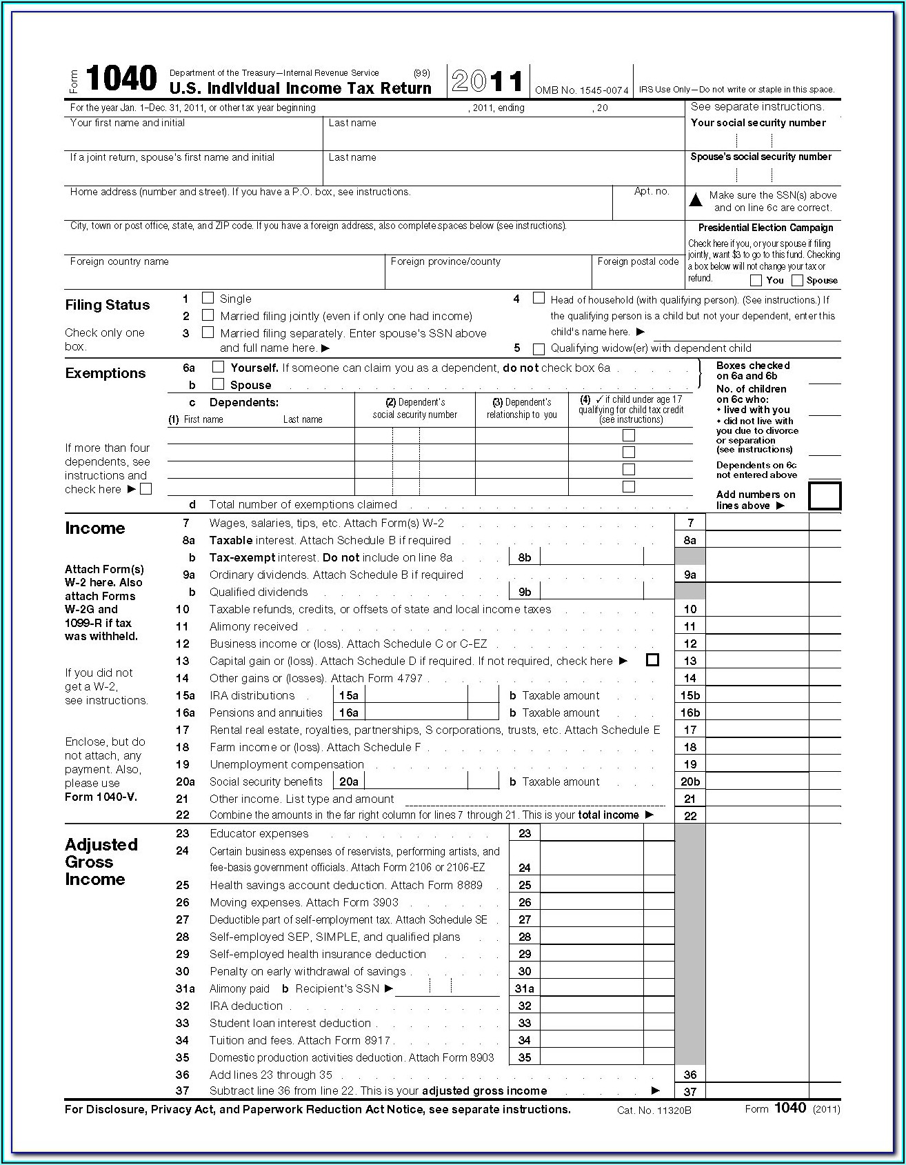 Irs Forms Printable