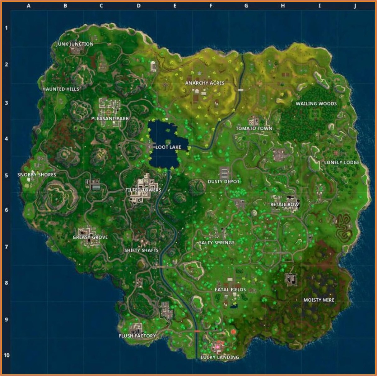 Jigsaw Puzzle Map Fortnite