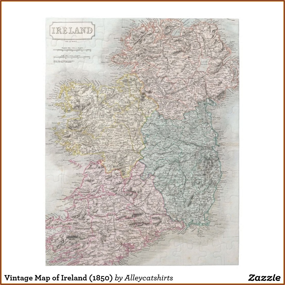 Jigsaw Puzzle Map Of Ireland