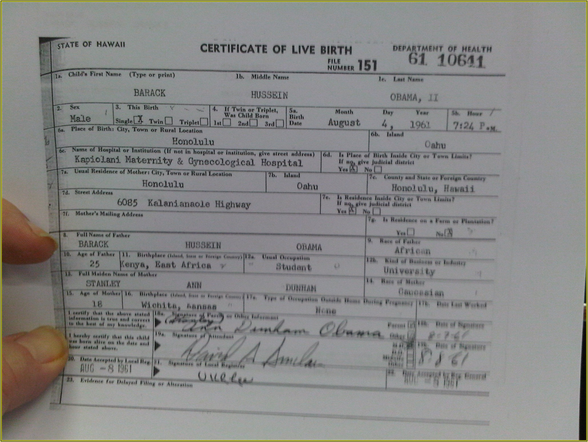 Kansas Birth Certificate Replacement Form