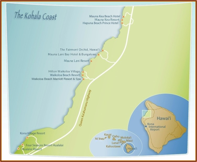Kohala Coast Resorts Map