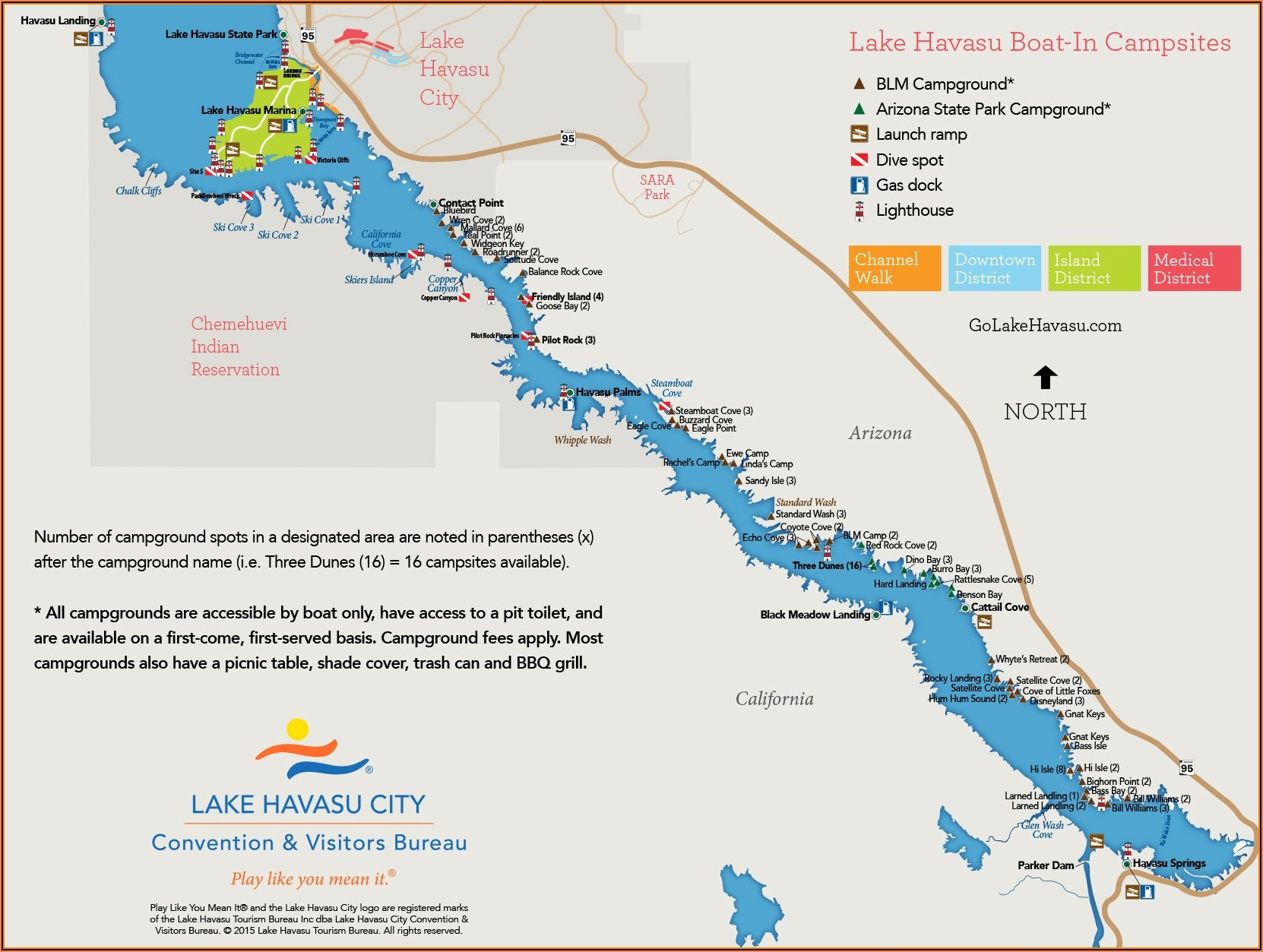 Lake Havasu Rv Parks Map