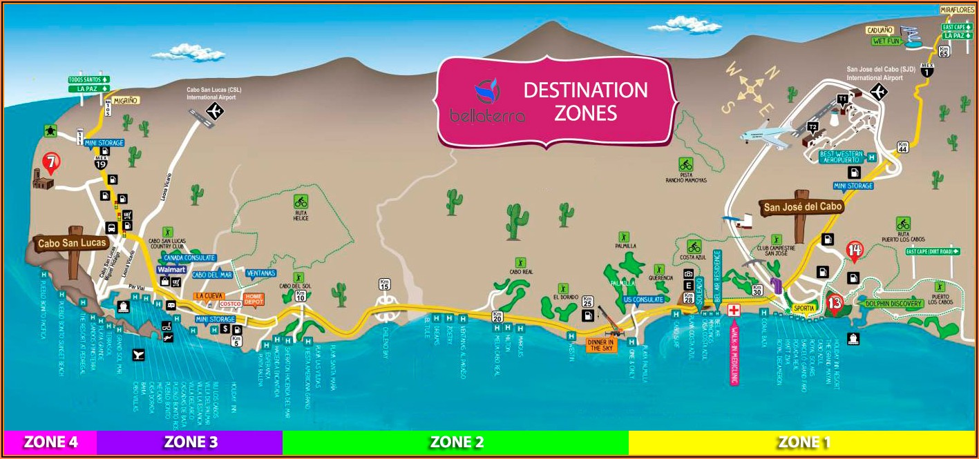 Los Cabos Hotel Strip Map